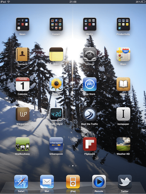 Lunde iPad Homescreen